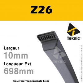 Courroie Z26 - Teknic