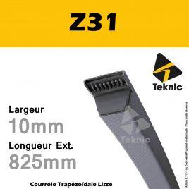Courroie Z31 - Teknic