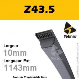 Courroie Z43.5 - Teknic