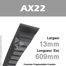 Courroie AX22 - Continental