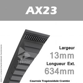 Courroie AX23 - Continental