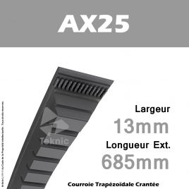 Courroie AX25 - Continental