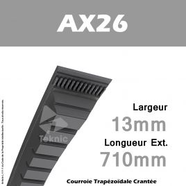 Courroie AX26 - Continental