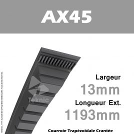 Courroie AX45 - Continental