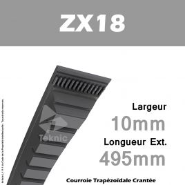 Courroie ZX18 - Continental