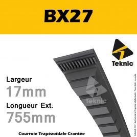 Courroie BX27 - Teknic