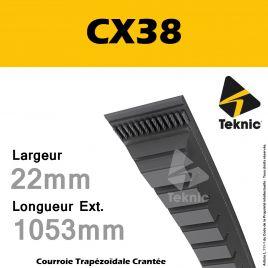 Courroie CX38 - Teknic