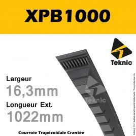 Courroie XPB1000 - Teknic