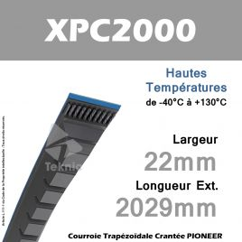 Courroie XPC2000 - Continental Pioneer