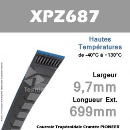 Courroie XPZ687 - Continental Pioneer