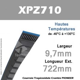 Courroie XPZ710 - Continental Pioneer
