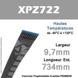 Courroie XPZ722 - Continental Pioneer