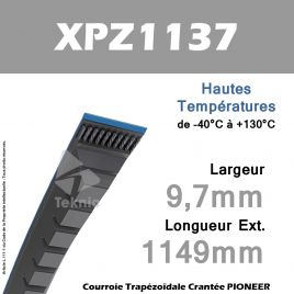 Courroie XPZ1137 - Continental Pioneer