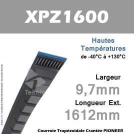 Courroie XPZ1600 - Continental Pioneer