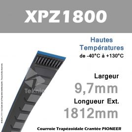 Courroie XPZ1800 - Continental Pioneer