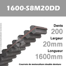 Courroie 1600-DS8M20 Double denture