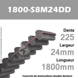 Courroie 1800-DS8M24 Double denture