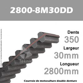 Courroie 2800-8M30 Double denture