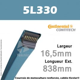 Courroie 5L330 - Continental