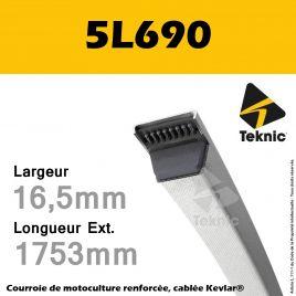 Courroie 5L690 - Teknic