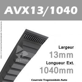 Courroie AVX13/1040 - Continental