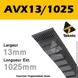 Courroie AVX13/1025 - Teknic