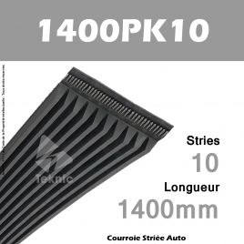 Courroie Poly-V Auto 1400PK10 - Continental