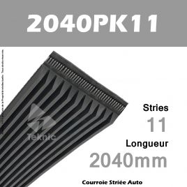 Courroie Poly-V Auto 2040PK11 - Continental