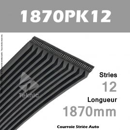 Courroie Poly-V Auto 1870PK12 - Continental