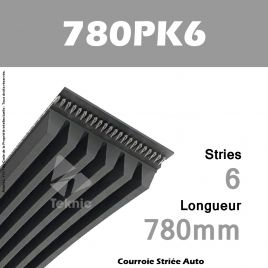Courroie Poly-V Auto 780PK6 - Continental