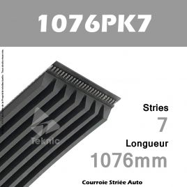Courroie Poly-V Auto 1076PK7 - Continental
