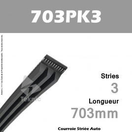 Courroie Poly-V Auto 703PK3 - Continental