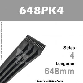 Courroie Poly-V Auto 648PK4 - Continental