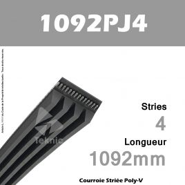 Courroie Poly-V 1092PJ4 - Continental
