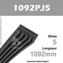 Courroie Poly-V 1092PJ5 - Continental