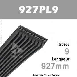 Courroie Poly-V 927PL9 - Continental
