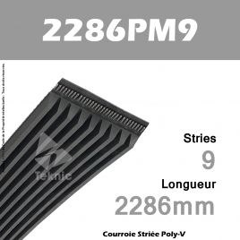 Courroie Poly-V 2286PM9 - Continental