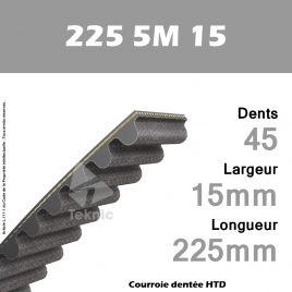 Courroie Dentée 225 5M 15