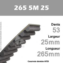 Courroie Dentée 265 5M 25
