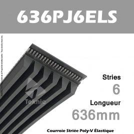 Courroie Élastique 636 PJ 6 ELS