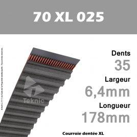 Courroie Dentée 70 XL 025