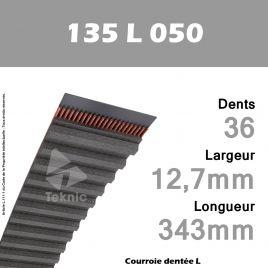 Courroie Dentée 135 L 050