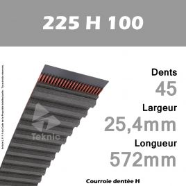Courroie Dentée 225 H 100