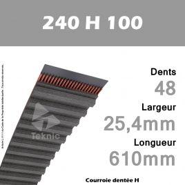 Courroie Dentée 240 H 100