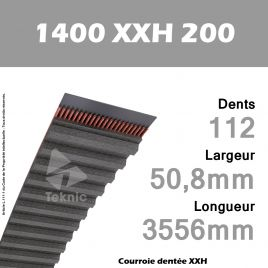 Courroie Dentée 1400 XXH 200