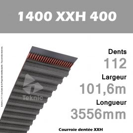 Courroie Dentée 1400 XXH 400