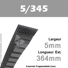 Courroie 5/345 Li Crantée - Continental