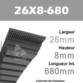 Courroie de Variateur 26X8-680 Li