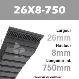 Courroie de Variateur 26X8-750 Li