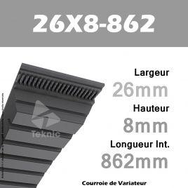 Courroie de Variateur 26X8-862 Li